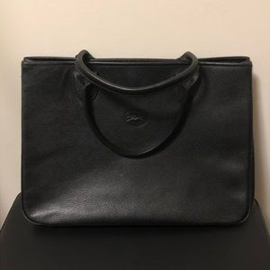 Longchamp leather purse tote